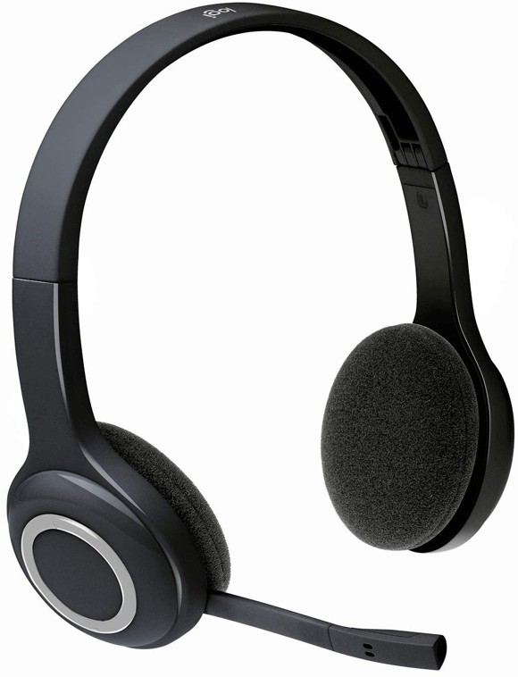 Logitech H600 - Wireless Headset, Stereo Headphones - with Rotating Noise-Cancelling Microphone