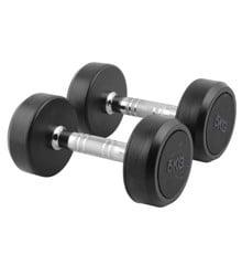 Inshape - Fitness Håndvægte 2 x 5 kg - Sort