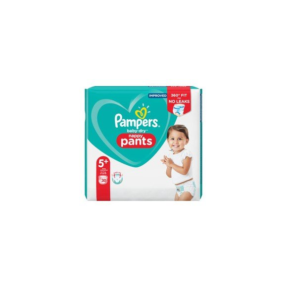 Pampers - Baby Dry Nappy Pants Size 5+