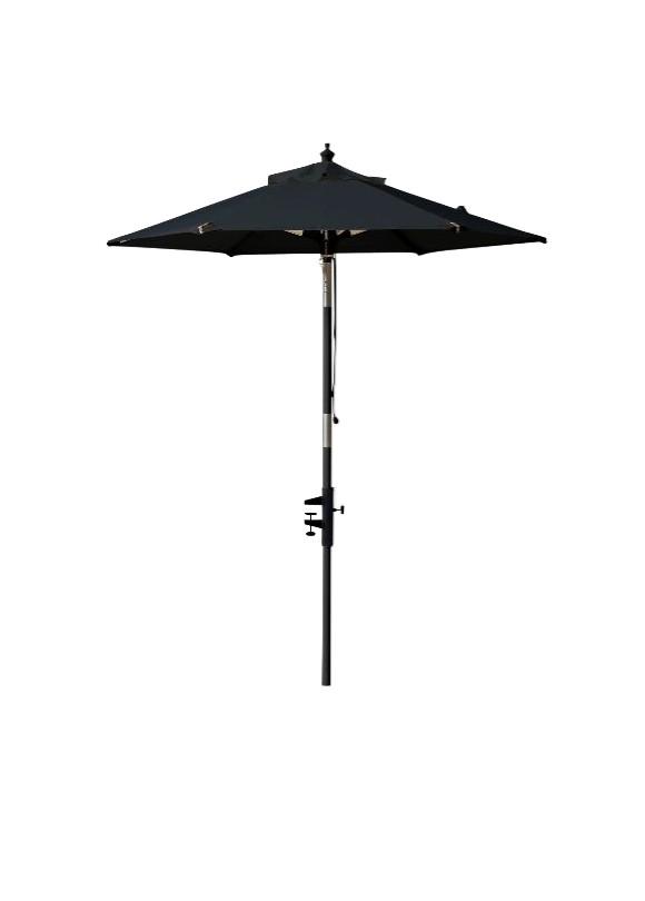 Cinas - Balcony Umbrella Ø 1,8 meter - Black/Black Pole (6300020)