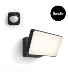Philips Hue - Welcome Black Outdoor Warm White + Outdoor Sensor - Bundle
