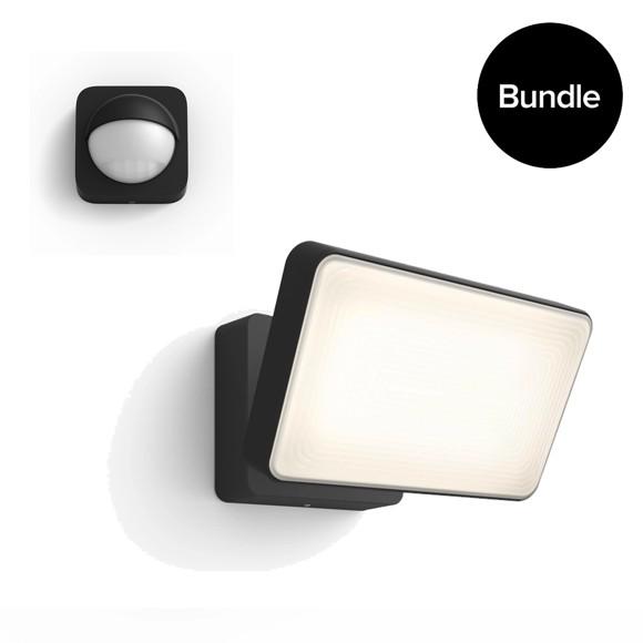 Philips Hue - Welcome Black Outdoor Warm White + Outdoor Sensor - Bundle