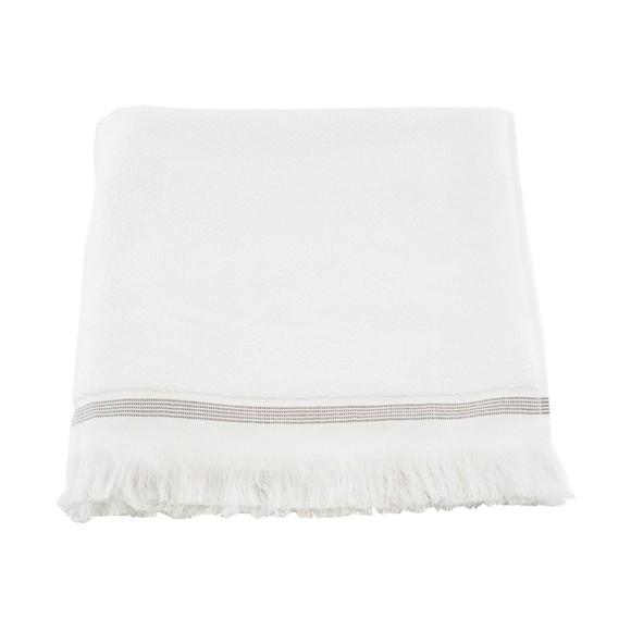 Meraki - Towel 70 x 140 cm - White/Grey Stripe (Mkds04/357780004)