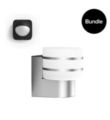 Philips Hue - Tuar Outdoor Wall Light Warm White +  Outdoor Sensor - Bundle