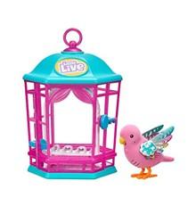 Little Live Pets - Interaktiv Fugl i Bur - Pink
