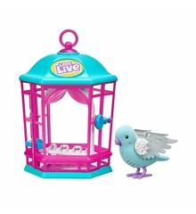 Little Live Pets - Interaktiv Fugl i Bur - Blå