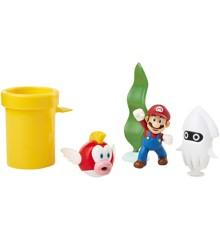 Nintendo - Super Mario - Undervannsdiorama-figursett