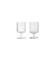 Ferm Living - Ripple Wine Glasses Set Of 2 - Clear (100488211)