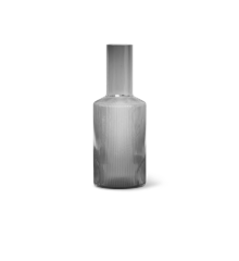 Ferm Living - Ripple Glass Carafe 0,9 L - Smoked Grey (100125112)