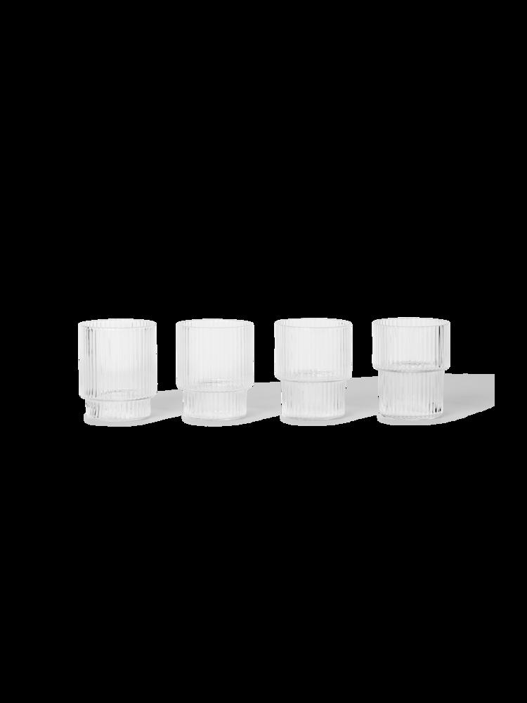 Ferm Living - Small Ripple Glass Set - Clear (100373211)