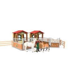 Schleich - Visit in the open Stall (72116)