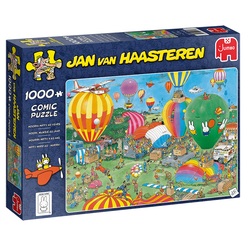 Jan Van Haasteren - Miffy 65y - 1000 Piece Puzzle (20024)