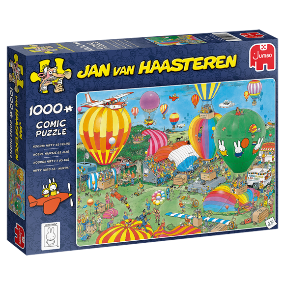 Jan Van Haasteren - Miffy 65y - 1000 Piece Puzzle (20024)