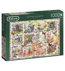 Falcon - Puzzle 1000 - Country Calendar (11190)