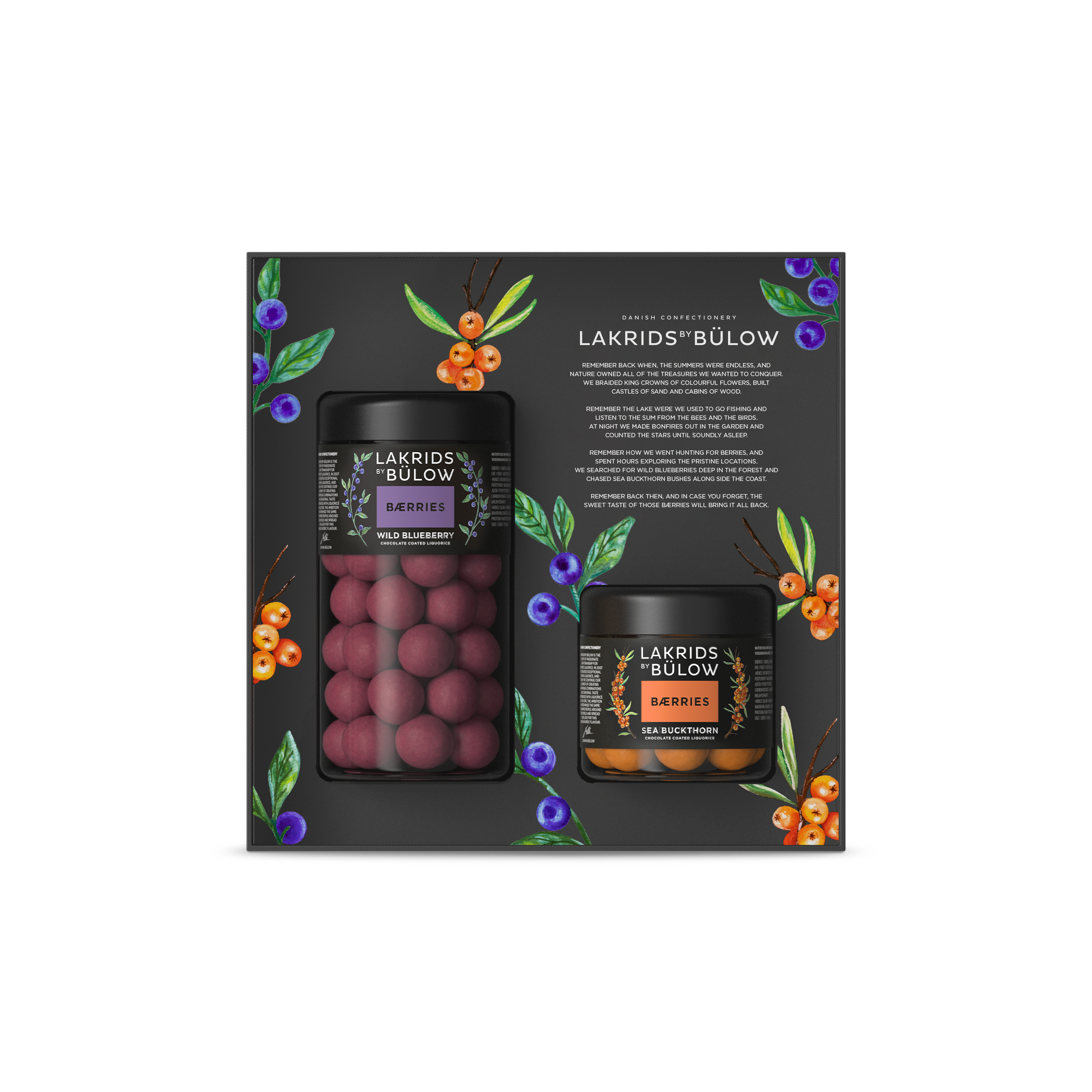 Lakrids By Bülow - ?Black Box Regular/Small Blueberry/Sea Buckthorn Bærries 420 g (500364)
