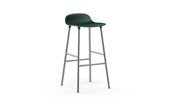 Normann Copenhagen - Form Bar Stool 75 cm - Green/Chrom Legs (603166)
