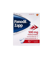 Panodil Zapp, 500 mg - 10 stk (005775)