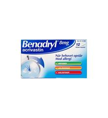 Benadryl, 8 mg - 12 stk. (411280)