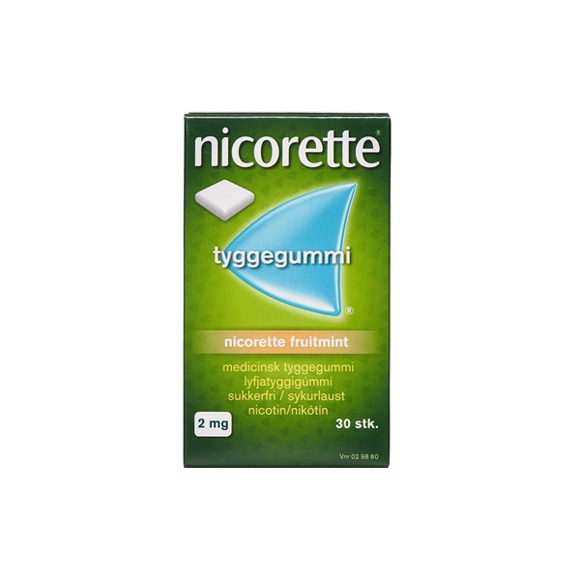 Nicorette - Fruitmint medicinsk tyggegummi, 2 mg - 30 stk. (029860)