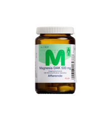 "Magnesia ""DAK"" filmovertrukne tabletter, 500 mg -  100 stk (118937)"