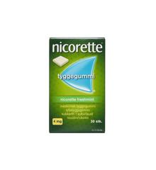 Nicorette - Freshmint medicinsk tyggegummi, 4 mg - 30 stk. (016589)