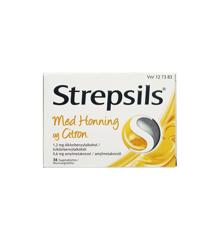 Strepsils - Honning & Citron sugetabletter, 0,6+1,2 mg - 36 stk. (127383)