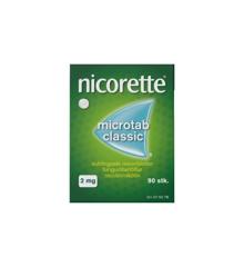 Nicorette - Microtab Classic resoribletter, sublinguale, 2 mg - 90 st (075078)