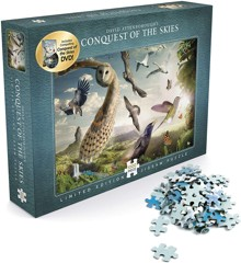 David Attenborough - Conquest of the Skies - Puslespil 1000 brikker + DVD