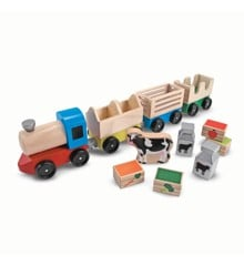 Melissa & Doug - Wooden Farm Train Toy Set (14545)