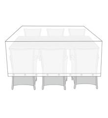 Living Outdoor - Overtræk Til Havemøbler 215 x 120 x 115 cm - Transparent