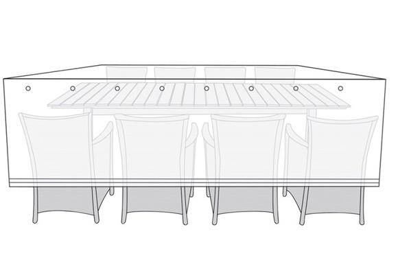 Living Outdoor - Overtræk Til Havemøbler 300 x 150 x 115 cm - Sort