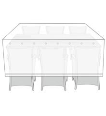ing Outdoor - Overtræk Til Havemøbler 215 x 119 x 105 cm - Transparent