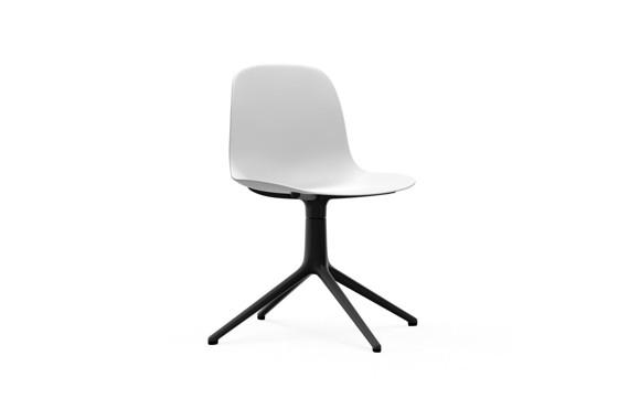 Normann Copenhagen - Form Chair Swivel 4L - White/Black Alu Legs (606010)