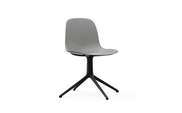 Normann Copenhagen - Form Chair Swivel 4L - Grey/Black Alu Legs (606011)