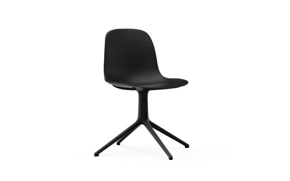 Normann Copenhagen - Form Chair Swivel 4L - Black/Black Alu Legs (606012)