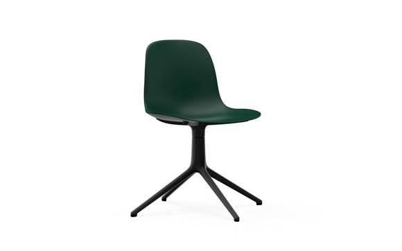 Normann Copenhagen - Form Chair Swivel 4L - Green/Black Alu Legs (606014)