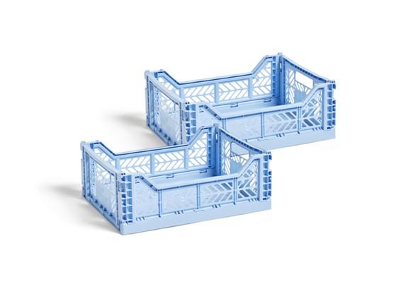 HAY - Colour Crate Kasse Medium Sæt á 2 - Lys Blå