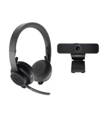Logitech - Zone Wireless Bluetooth headset + C925e webcam GRAPHITE