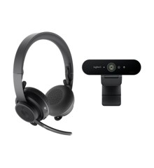 Logitech - Zone Wireless + Brio 4K webcam
