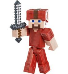 Minecraft - Comic Mode 8 cm Figur - Steve i Rød Dragt