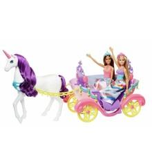 Barbie - Dreamtopia - Dukke og Hestevogn (GNH04)