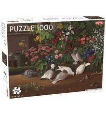 Tactic - Puslespil 1000  - Fugle og blomster