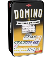 Tactic - Domino Dobbelt 12 i metalæske (53915)