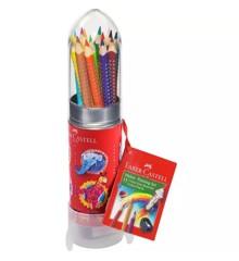 Faber-Castell - Colour Grip farveblyanter Raket, 16 stk (112457)