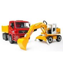 Bruder - MAN TGA construction truck and Liebherr Excavator (BR2751)