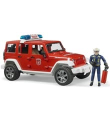 Bruder - Jeep Wrangler Unlimited Rubicon Fire Dept vehicle with fireman (BR2528)