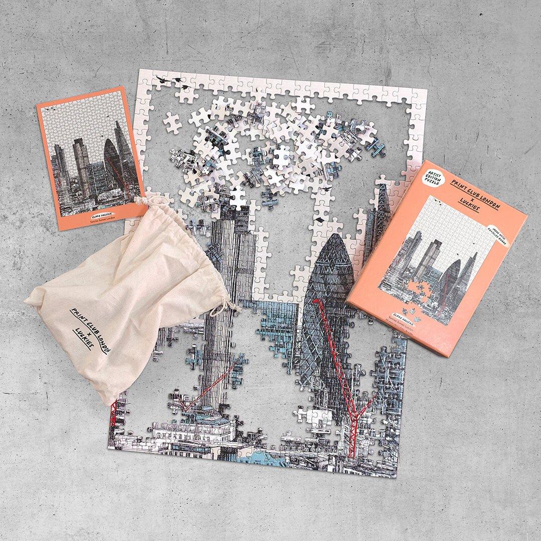 Print Club London x Luckies - Sunrise Sunset London - 500 Pieces Puzzle