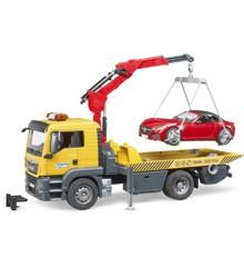 Bruder- MAN TGS Vejhjælpsbil med Bruder roadster og lyd og lys (BR3750)