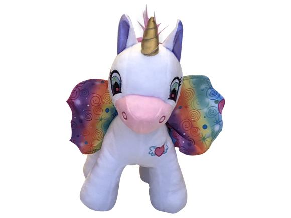 Wonder Wings - Unicorn - White with Rainbow Wigs