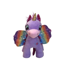 Wonder Wings - Unicorn - Purple with Rainbow Wigs